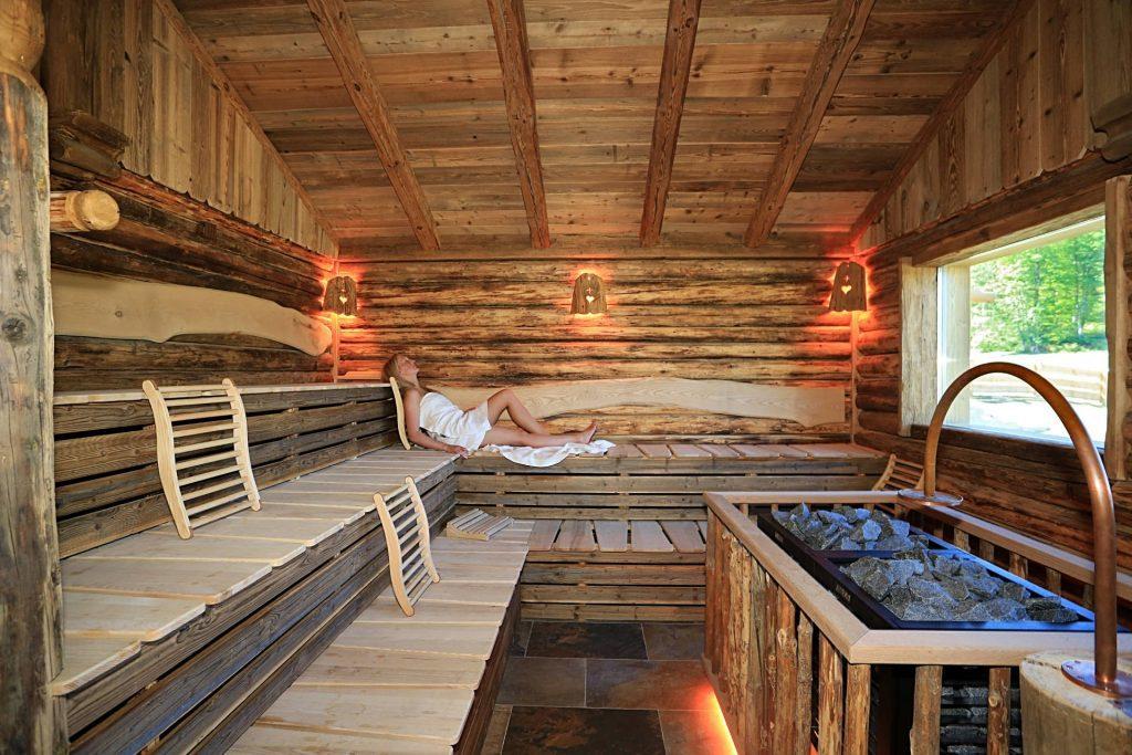 Sauna im Hotel Alpenhof